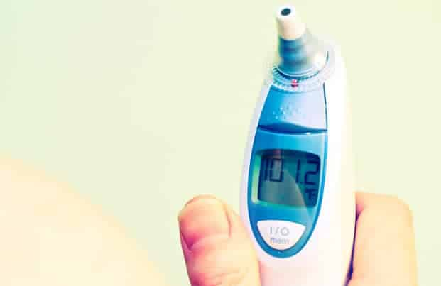 Digital thermometer Reading Fever Temperature