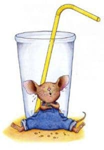 If you give a mouse a cookie glass with drinking straw