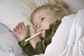 Fever in toddlers  is any temperature above 100.4F