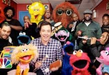 Sesame Street Characters with Jimmy Fallon