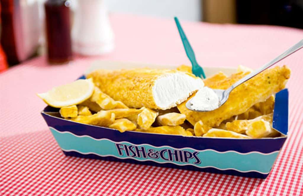 Fish and Chips Ice Cream from England