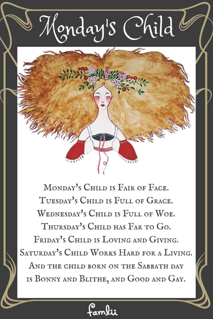 Monday S Child Nursery Rhyme Poem