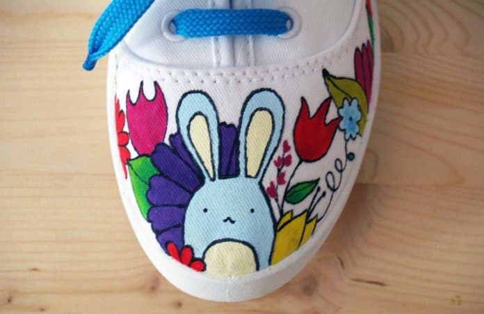 Shoe with Bunny Rabbit