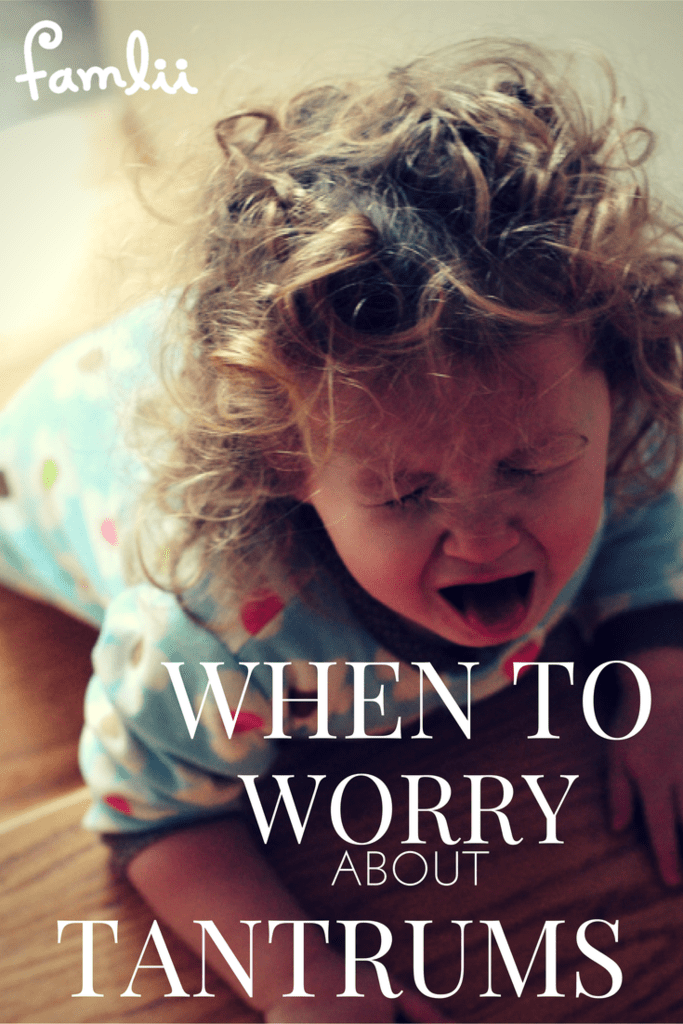 When to worry about temper tantrums famlii