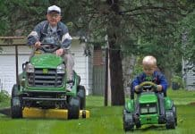 Kare News Video of Best Friends Emmett and Erling Riding Tractors