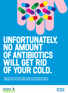 Antibiotics should not be given for colds or flu.
