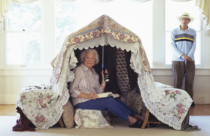 How to cope with exasperating grandparents famlii grandmother in play tent reading with flashlight sciox Gallery