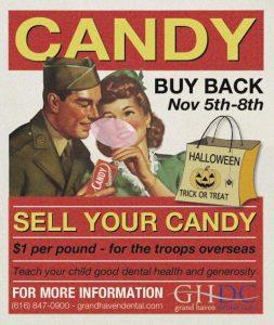 Halloween Candy Buy Back Advertisement