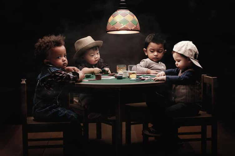 Image result for little kid playing poker