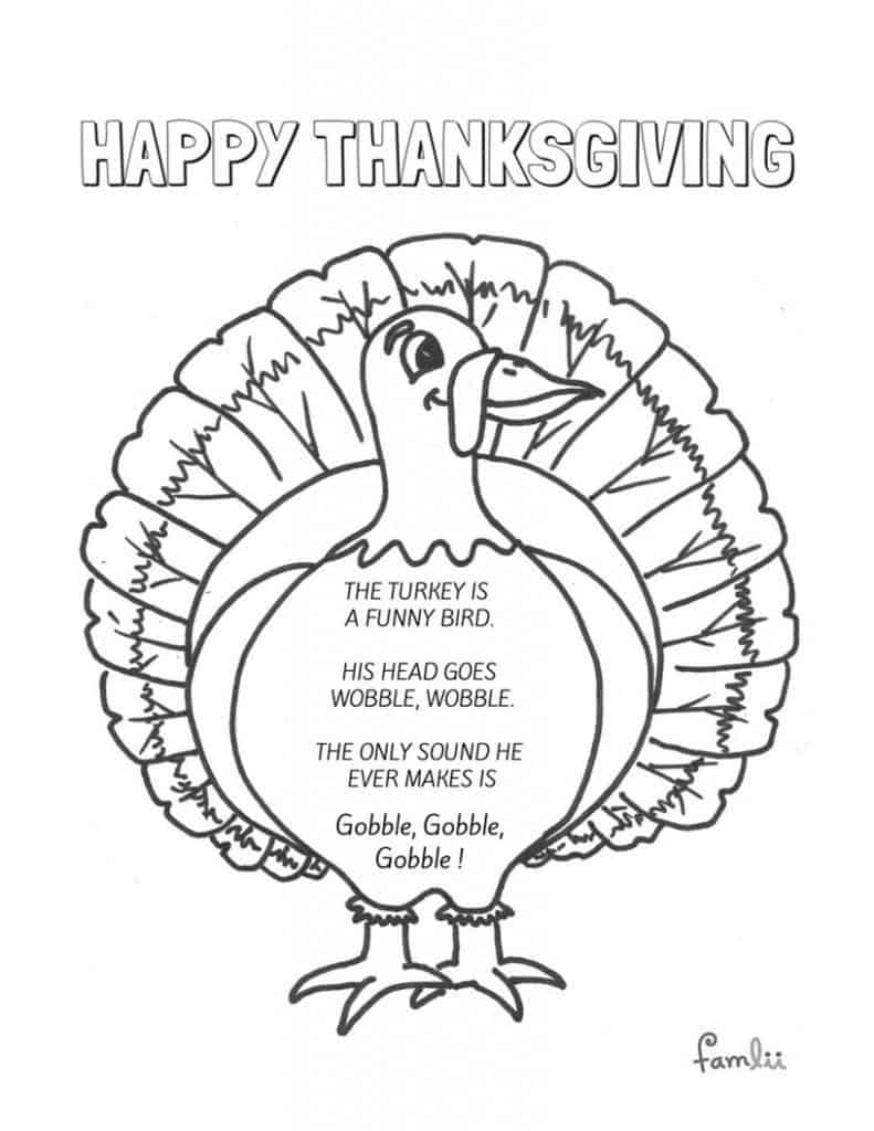 A Turkey is a Funny Bird Thanksgiving Printable - Famlii