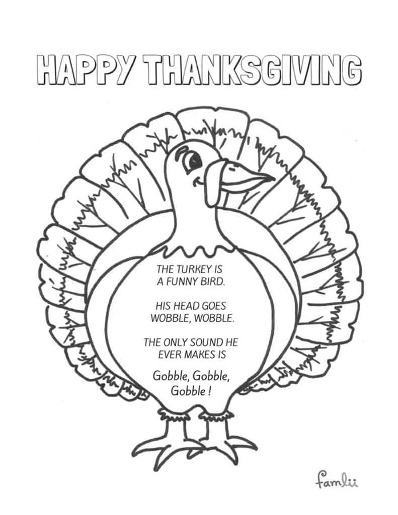 the turkey is a funny bird preschool thanksgiving poems famlii