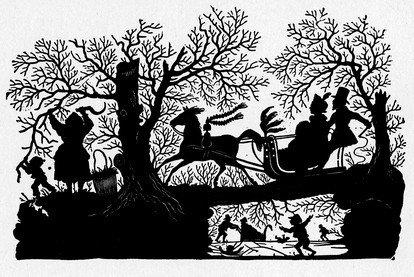 Harrison Weir Sleigh Ride Silhouette