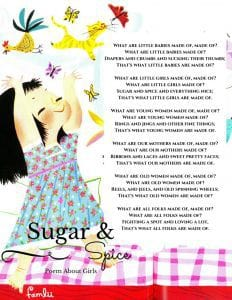 Pinterest Pin of What Little Girls Are Made of Poem