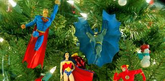 Batman Christmas Ornament on Tree