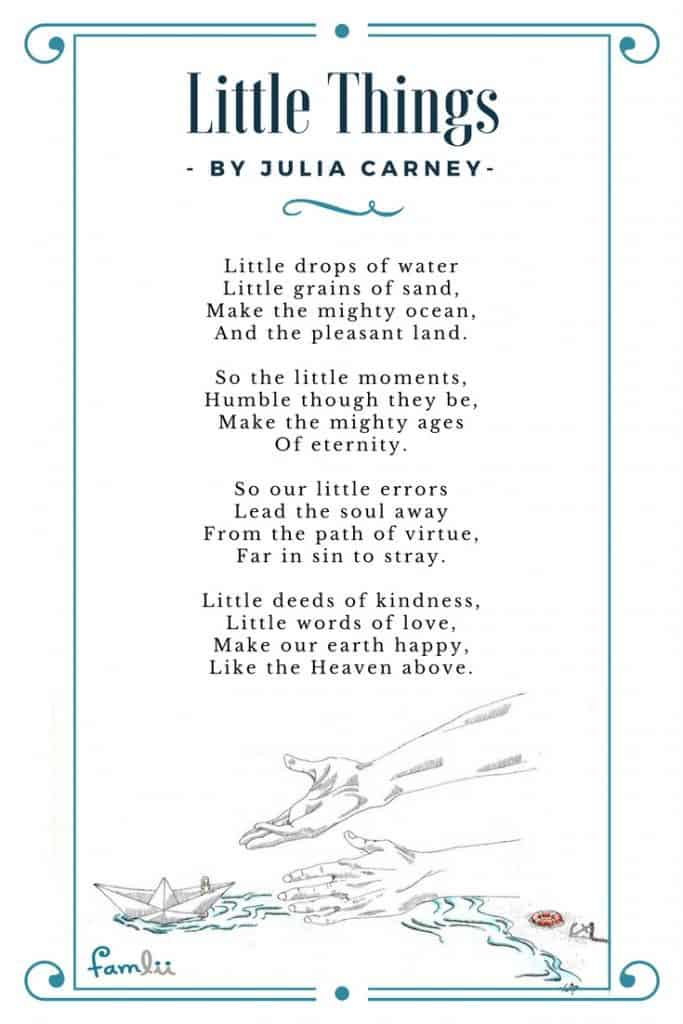 photo about The Dash Poem Printable Pdf referred to as Minor Components: A Poem pertaining to Little Functions of Kindness - Famlii