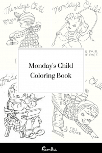 Pdf of Coloring Pages of Mondays Child