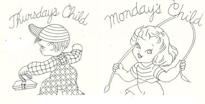 These Monday S Child Coloring Pages Are Not Sour And Sad