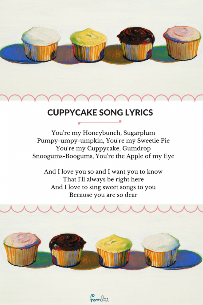 Cuppycake Song A Sweet Lullaby Famlii