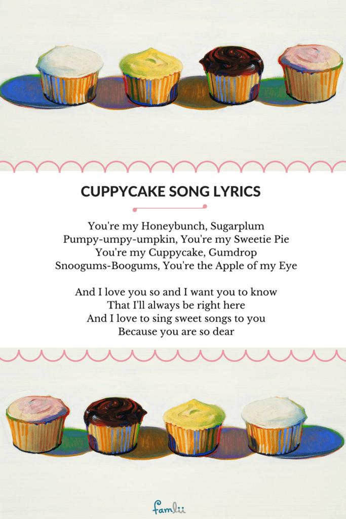 Lyrics - Cuppycake